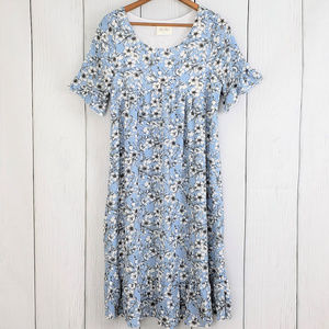 Anthropologie Ella Mara Floral Ruffled Dress NWOT